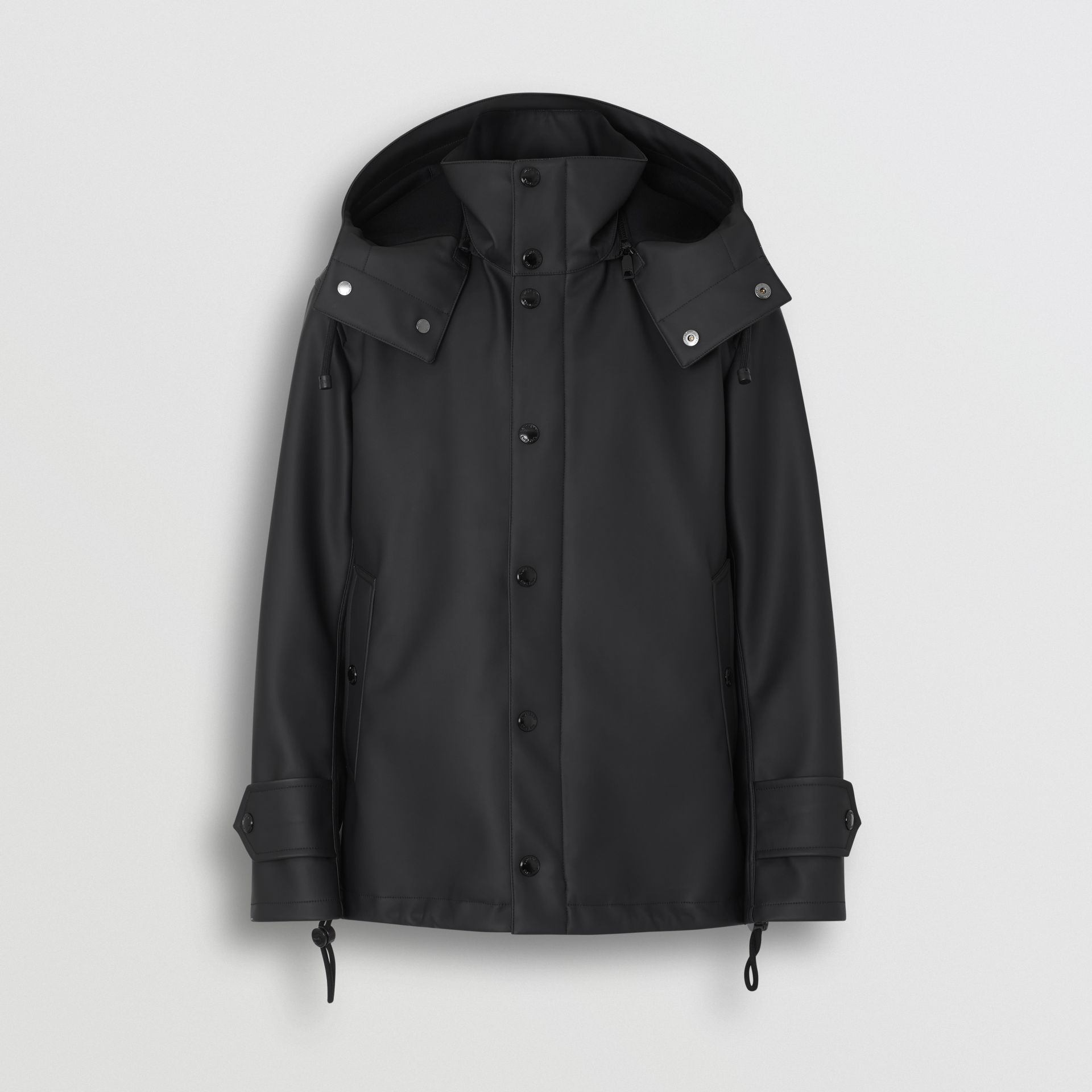 Detachable Hood Showerproof Jacket in Black - Men | Burberry - gallery image 3