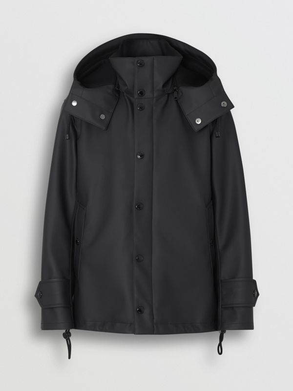 Detachable Hood Showerproof Jacket in Black - Men | Burberry - cell image 3
