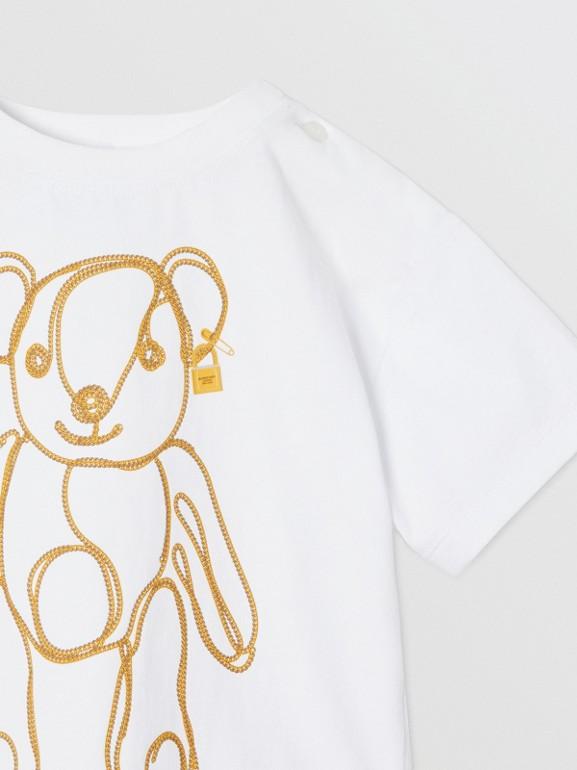 체인 프린트 코튼 티셔츠 (화이트) - 아동 | Burberry - cell image 1
