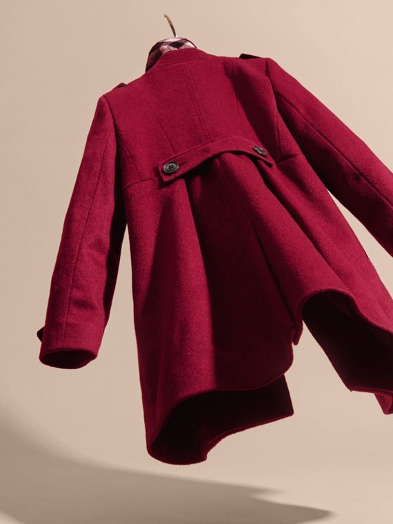 Cherry pink Cashmere Military Coat Cherry Pink - cell image 3