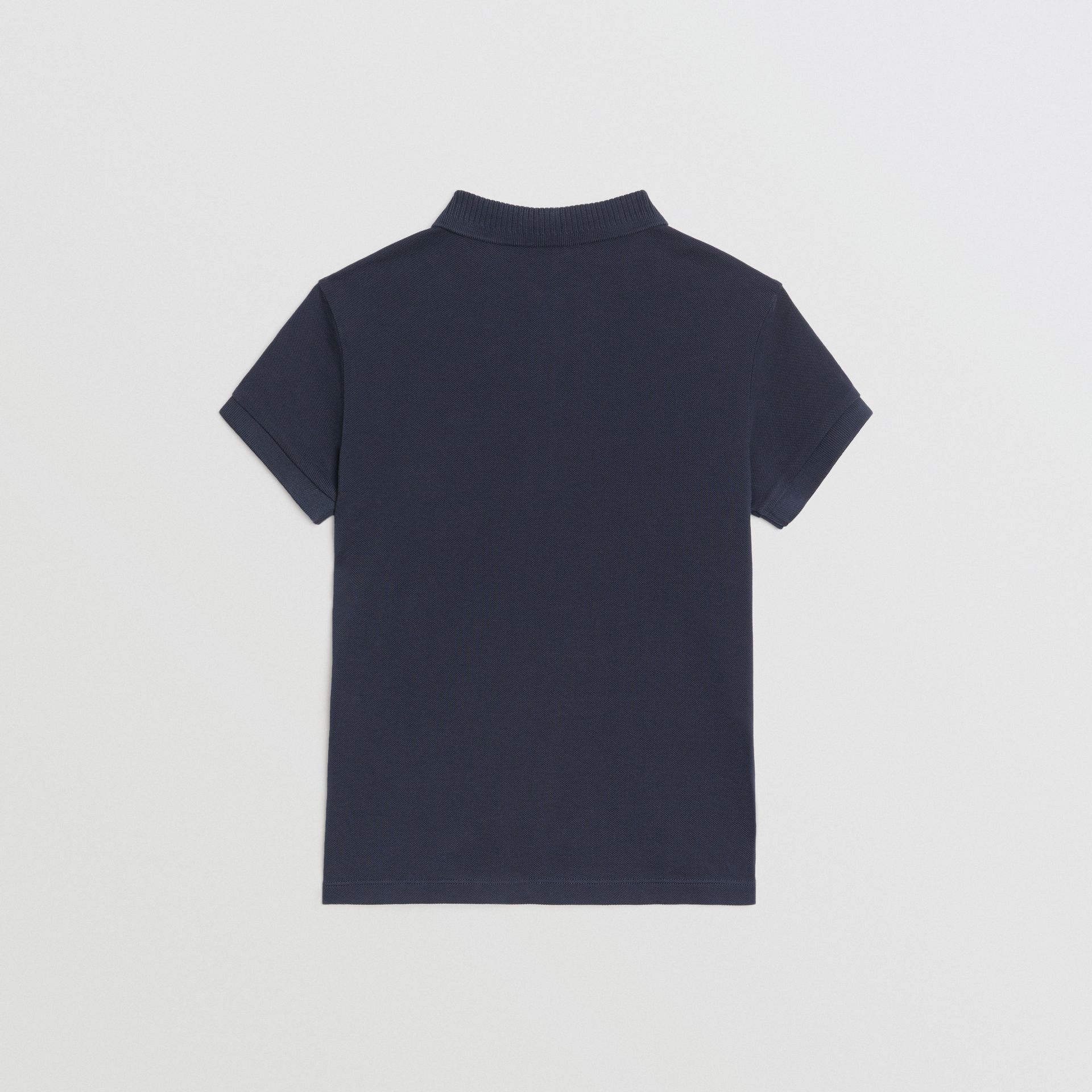 EKD Logo Cotton Piqué Polo Shirt in Navy | Burberry United Kingdom - gallery image 3
