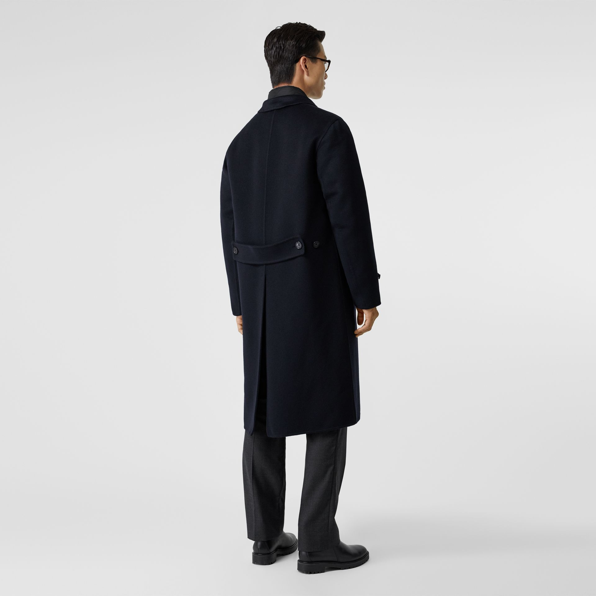 Cashmere Lab Coat in Navy - Men | Burberry - gallery image 2