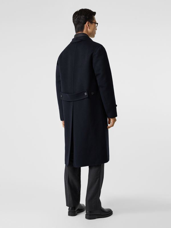Cashmere Lab Coat in Navy - Men | Burberry Australia - cell image 2