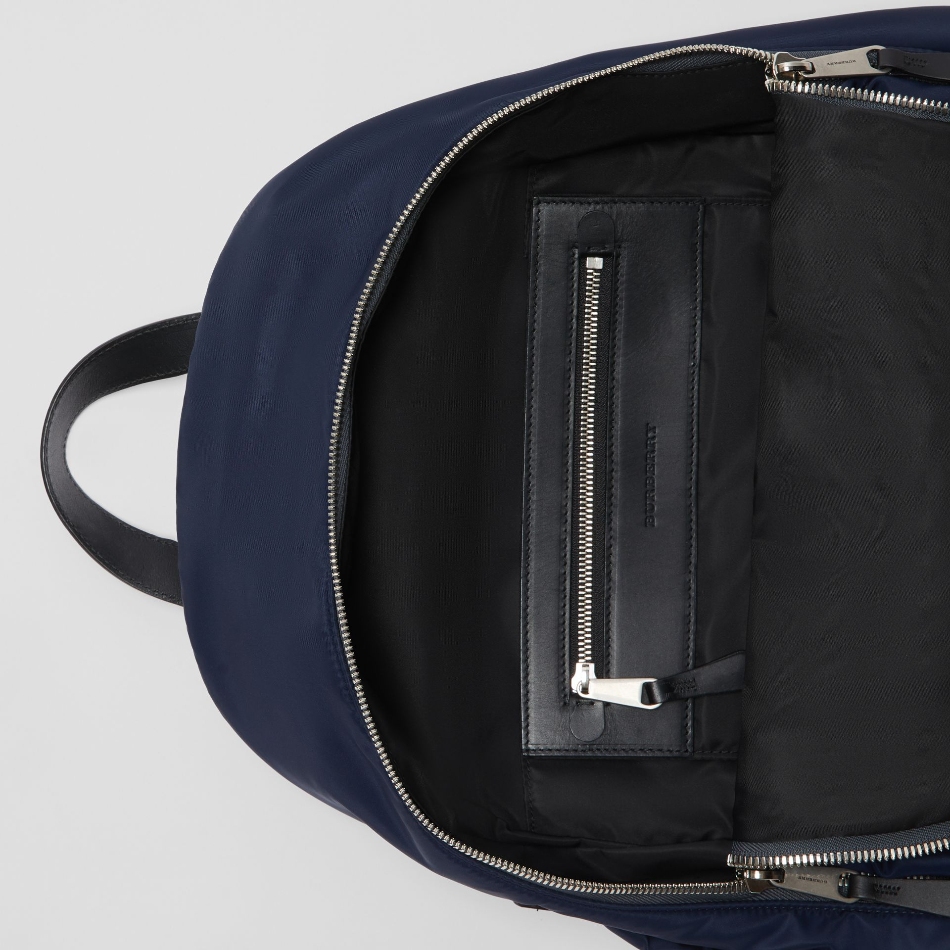 Large EKD Aviator Nylon Backpack in Ink Blue - Men | Burberry United States - gallery image 4