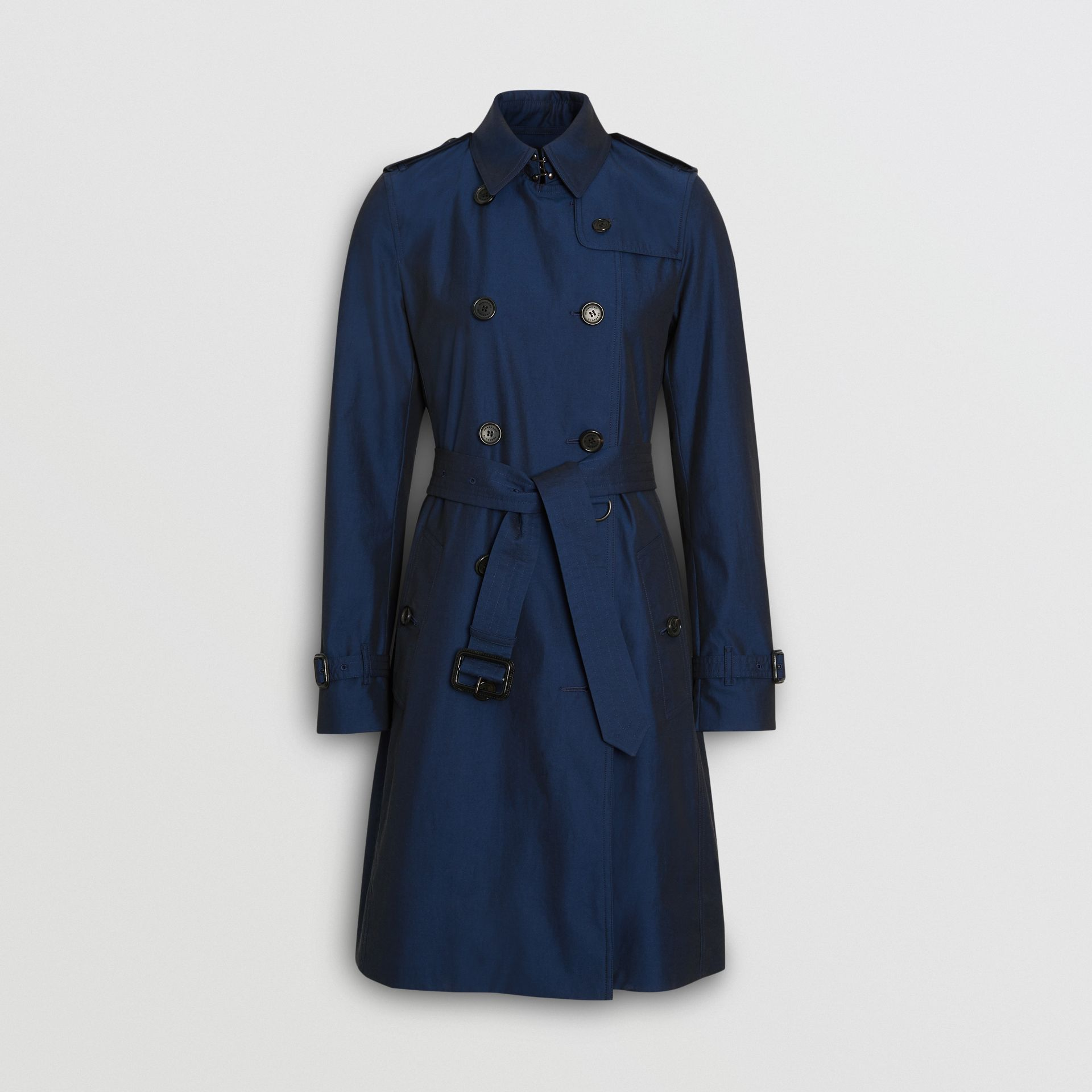 Kensington Fit Tropical Gabardine Trench Coat in Bright Regency Blue - Women | Burberry United States - gallery image 3