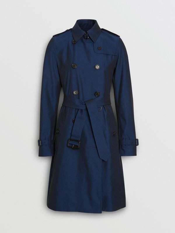 Kensington Fit Tropical Gabardine Trench Coat in Bright Regency Blue - Women | Burberry United Kingdom - cell image 3