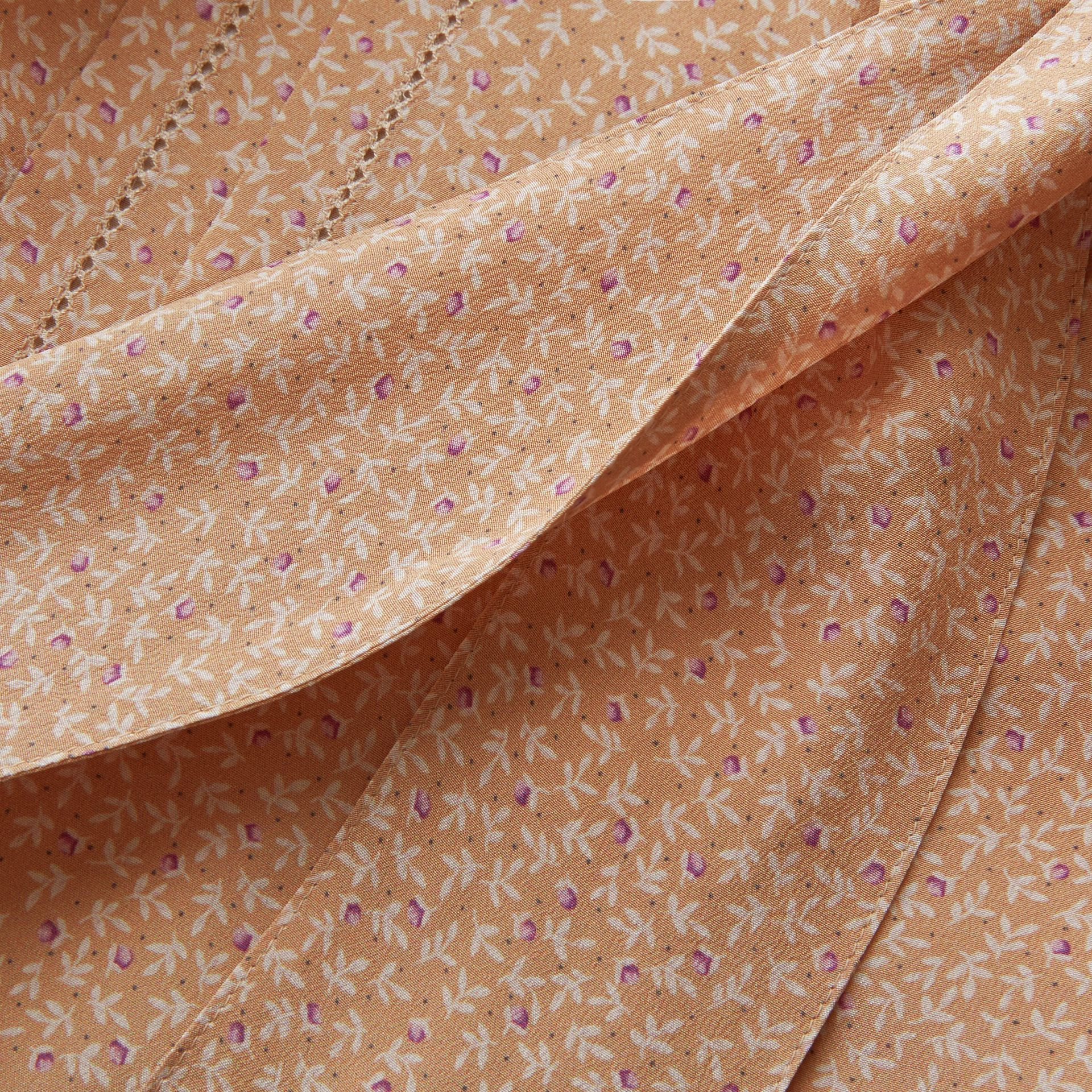 Tie Neck Floral Print Silk Shirt - Women | Burberry Hong Kong - gallery image 2
