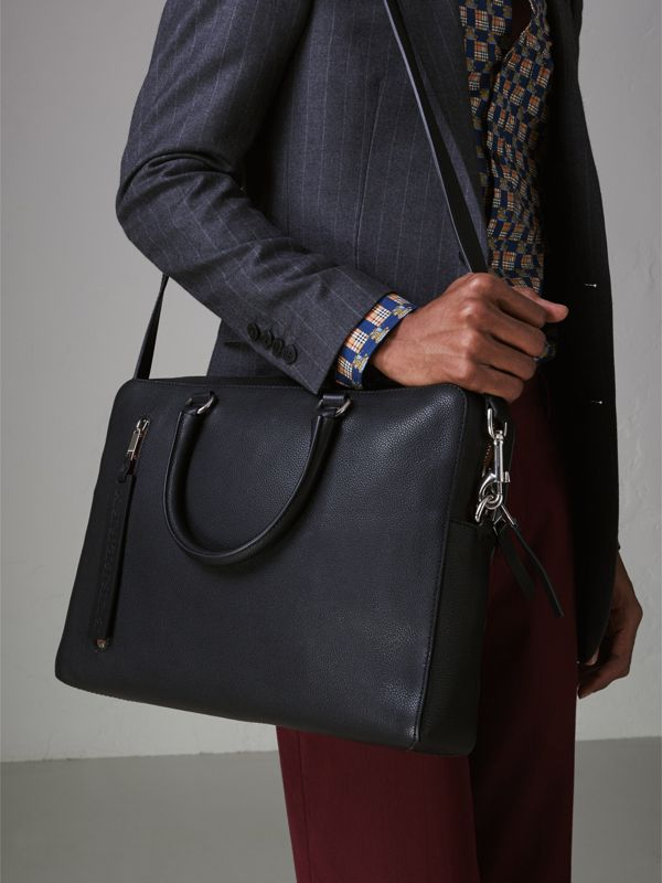 Attaché-case en cuir grainé (Noir) - Homme | Burberry Canada - cell image 3
