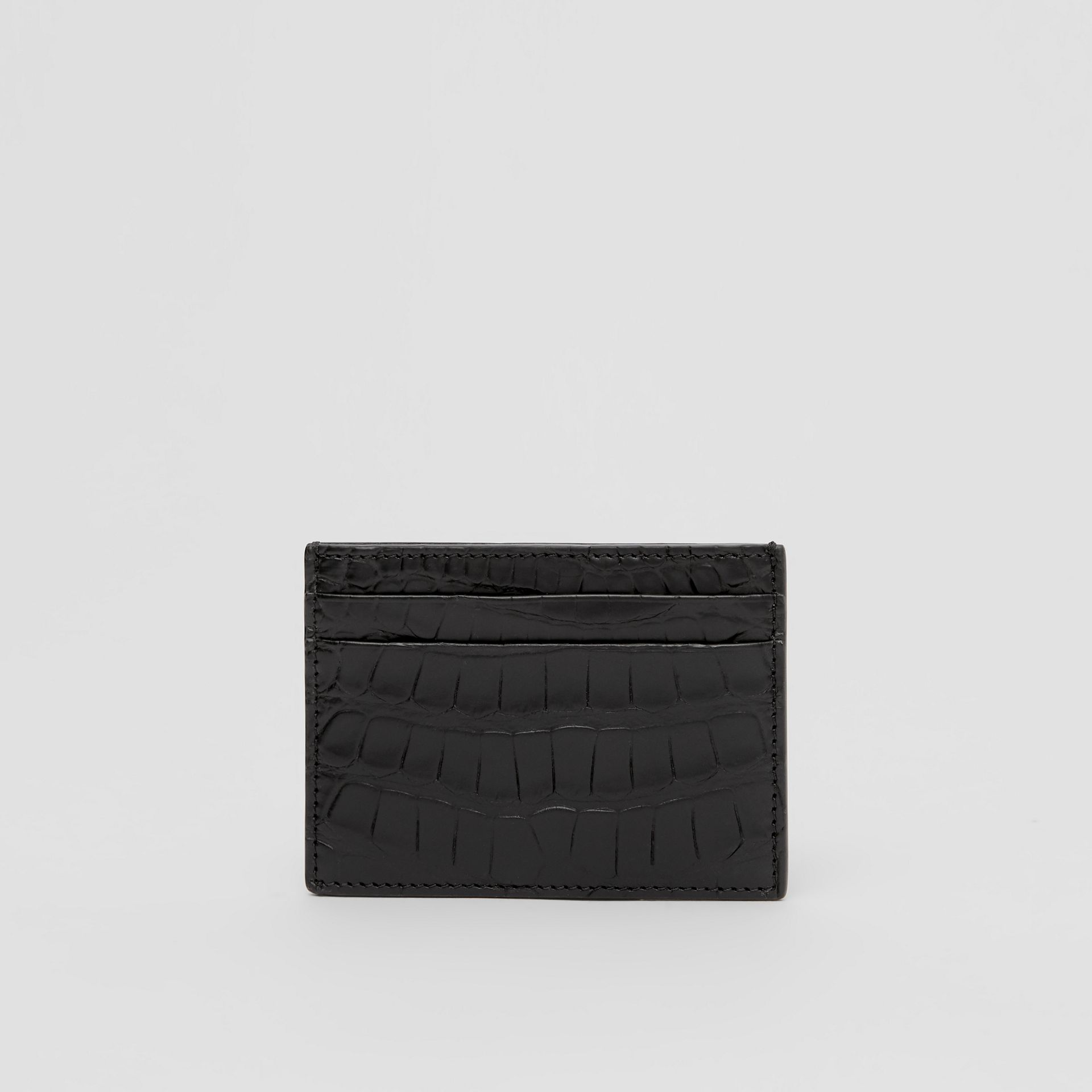 Porte-cartes en alligator (Noir) - Homme | Burberry Canada - photo de la galerie 4