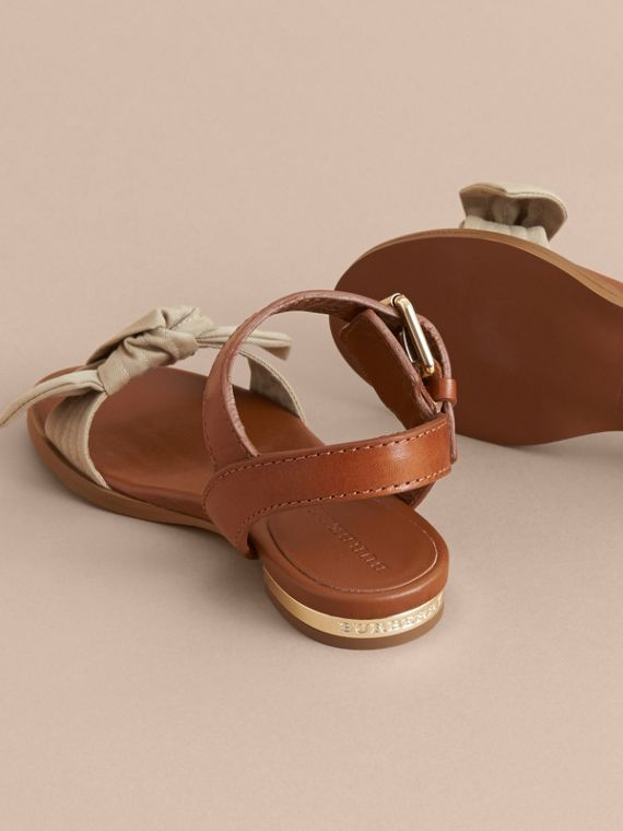 Cotton Bow and Leather Sandals | Burberry - cell image 3