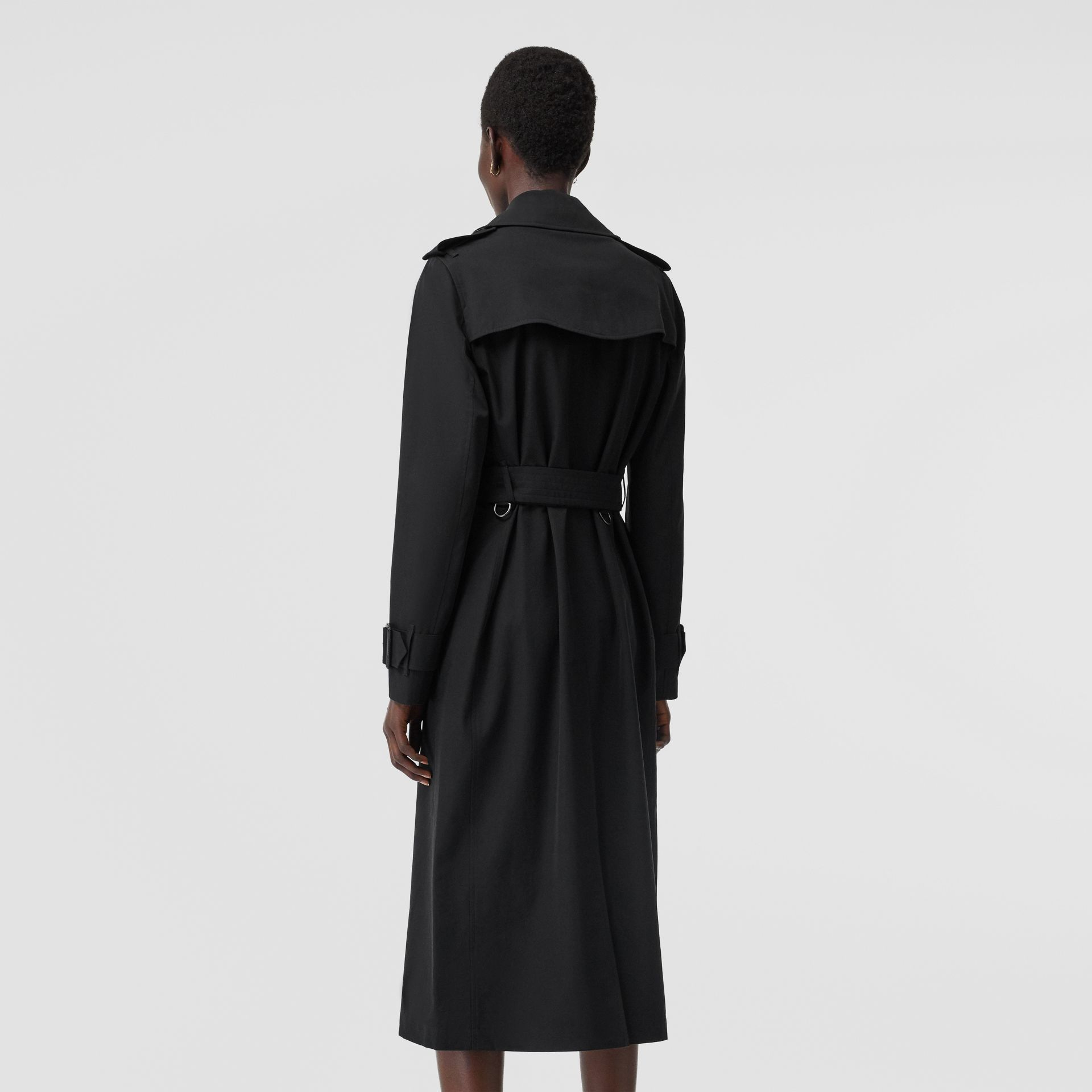 Tropical Gabardine Trench Coat in Black - Women | Burberry - gallery image 2