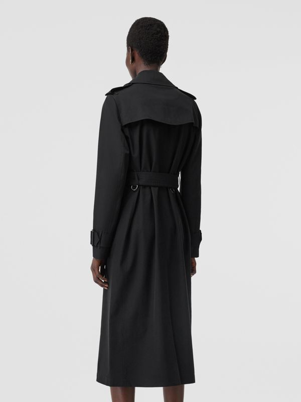Tropical Gabardine Trench Coat in Black - Women | Burberry Australia - cell image 2