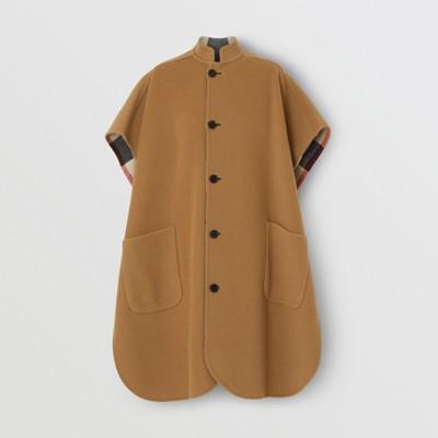 Burberry - Poncho reversible en mezcla de lana a cuadros - 4