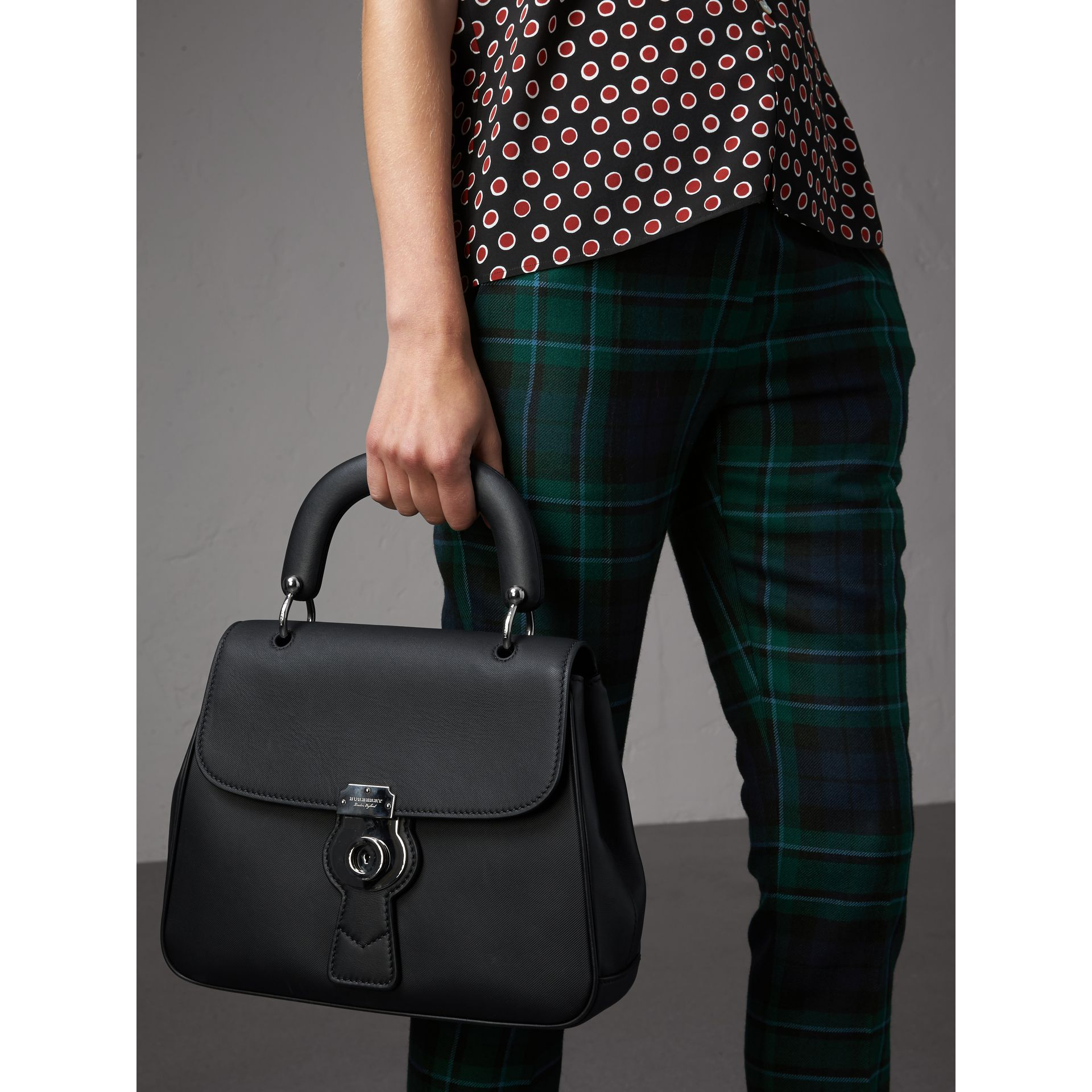 The Medium DK88 Top Handle Bag in Black - Women | Burberry Australia - gallery image 3