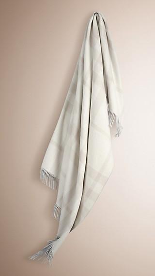Check Merino Wool Cashmere Blanket