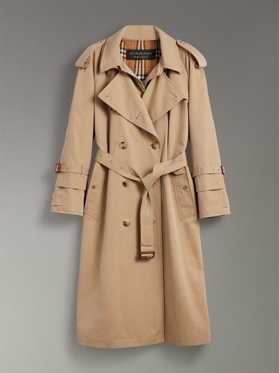 Cotton Gabardine Reconstructed Car Coat in Honey - Women | Burberry - cell image 3