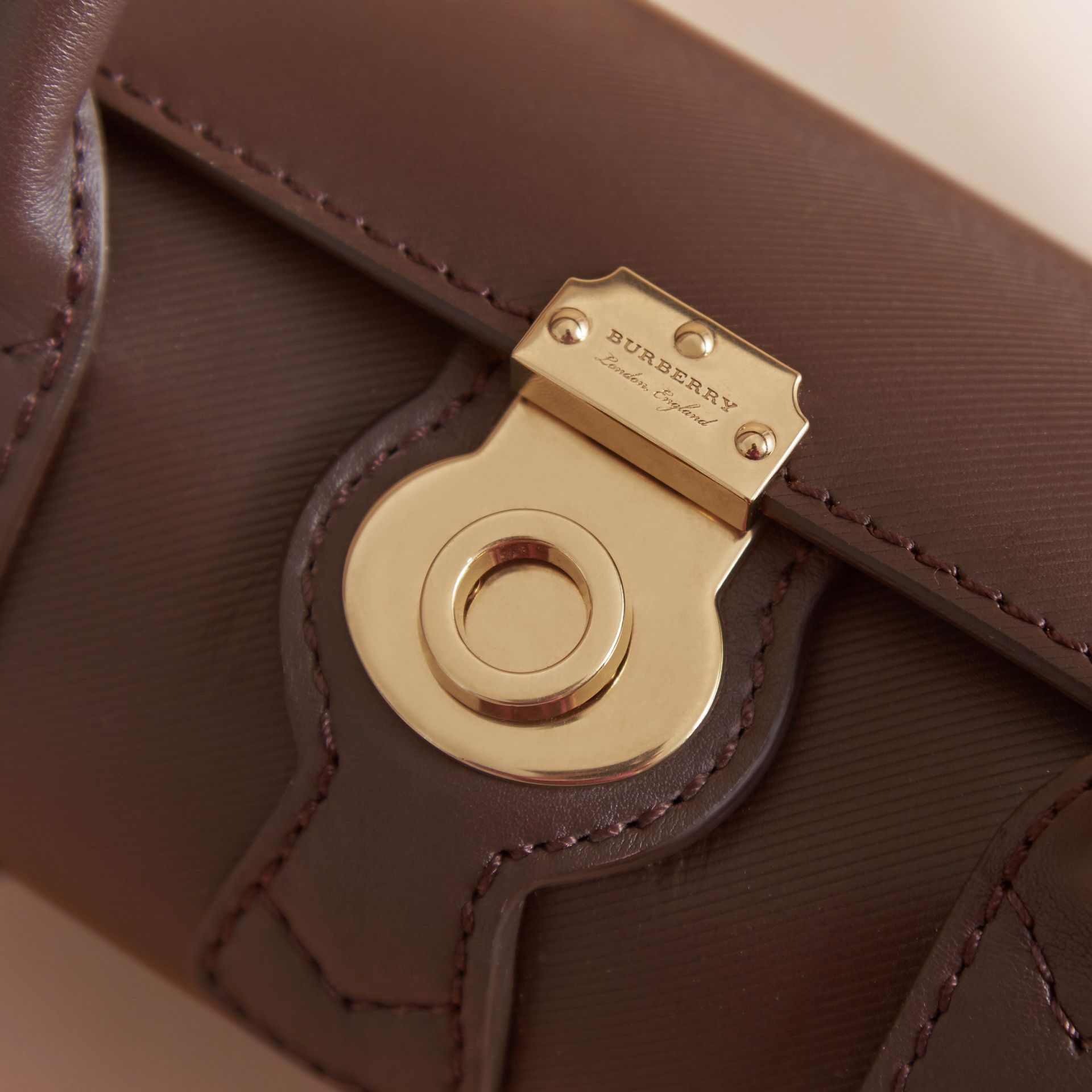 The Mini DK88 Barrel Bag in Dark Chocolate - Women | Burberry - gallery image 4