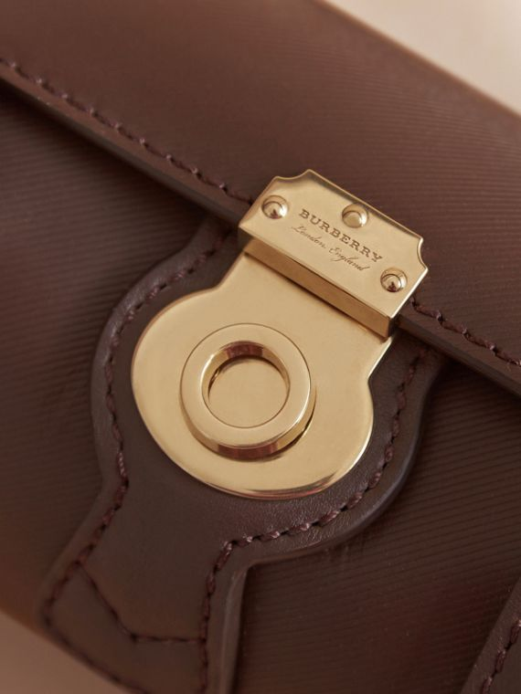 The Mini DK88 Barrel Bag in Dark Chocolate - Women | Burberry - cell image 3
