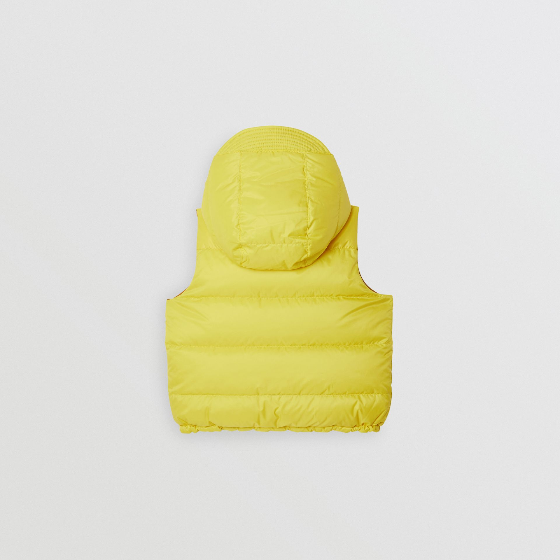 Reversible Showerproof Down-filled Hooded Gilet in Citrus Yellow | Burberry Australia - gallery image 4