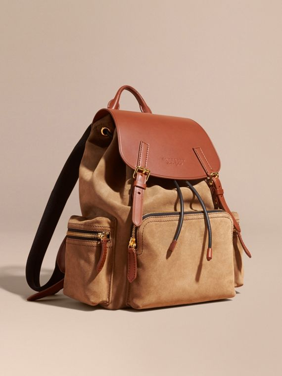 The Large Rucksack in Suede and Bridle Leather