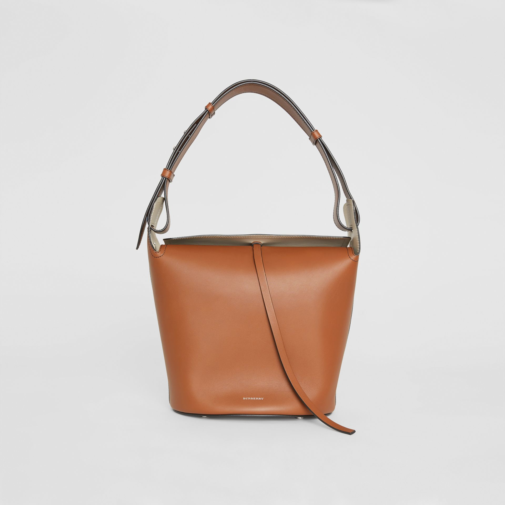 The Medium Leather Bucket Bag in Tan - Women | Burberry - gallery image 0