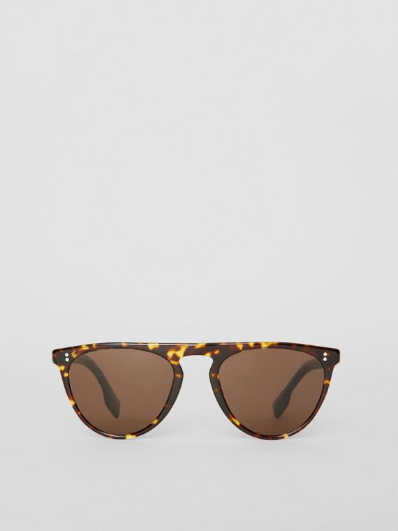 Keyhole D-shaped Sunglasses in Tortoise Shell