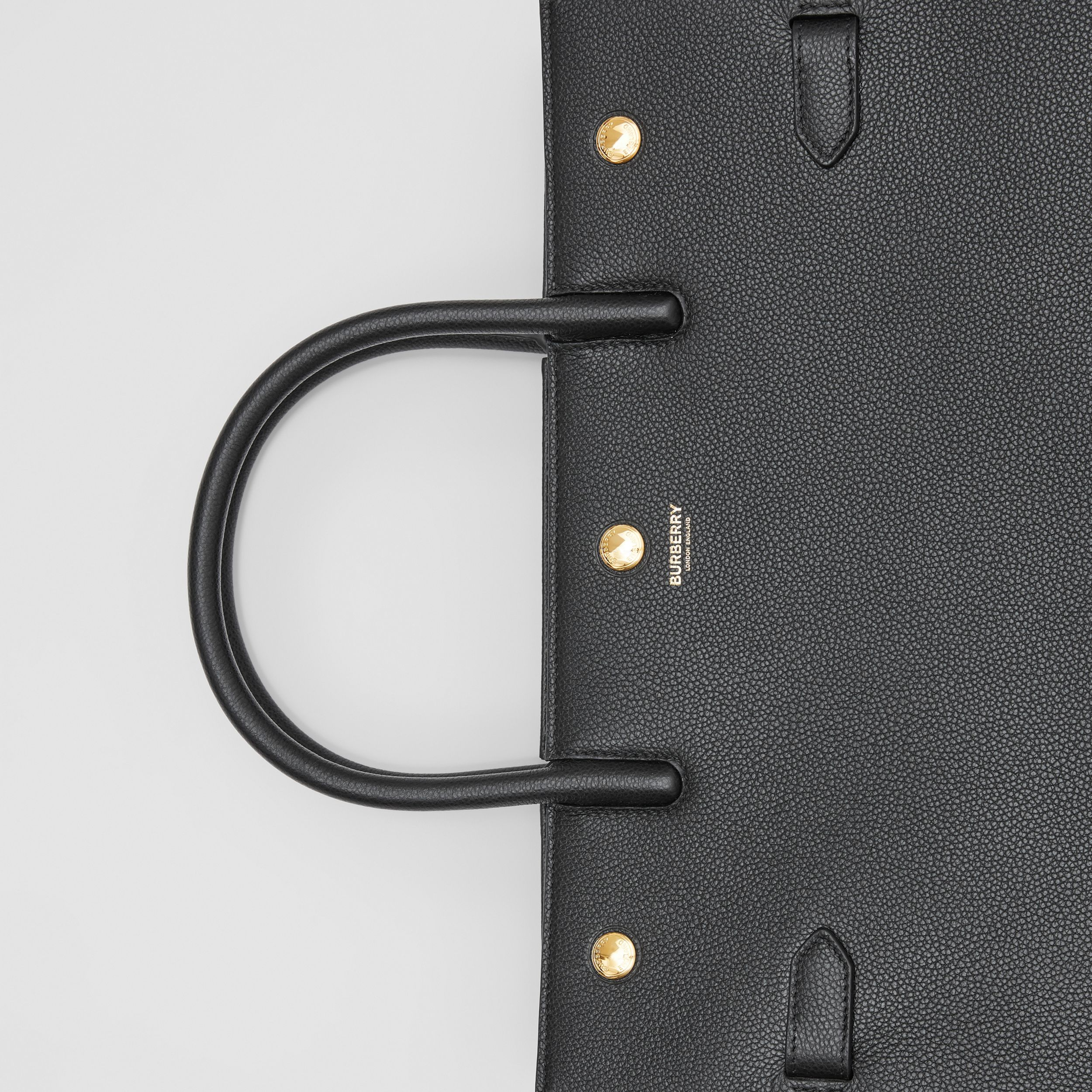 Medium Leather Two-handle Title Bag in Black - Women | Burberry Australia - 2