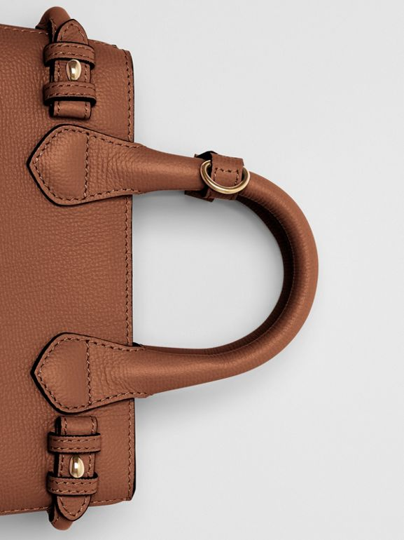 The Small Banner in Leather and House Check in Tan - Women | Burberry Hong Kong - cell image 1