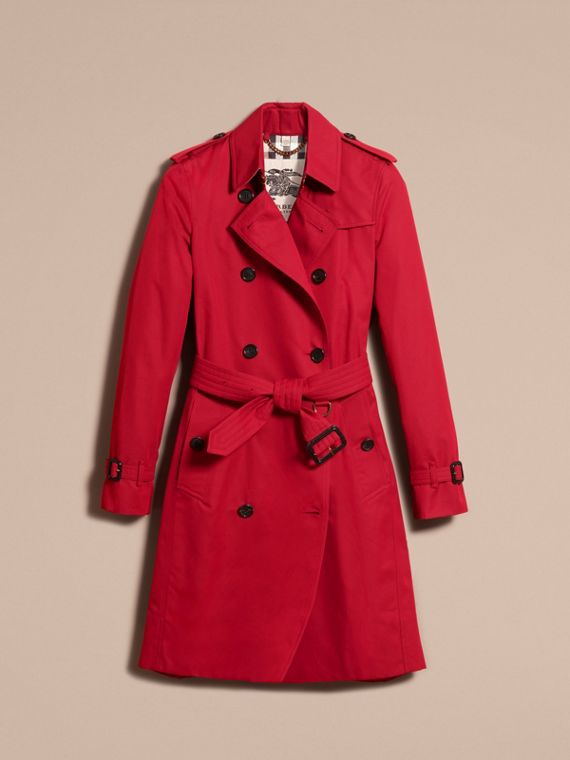 Rojo desfile Trench coat Kensington - Trench coat Heritage largo Rojo Desfile - cell image 3