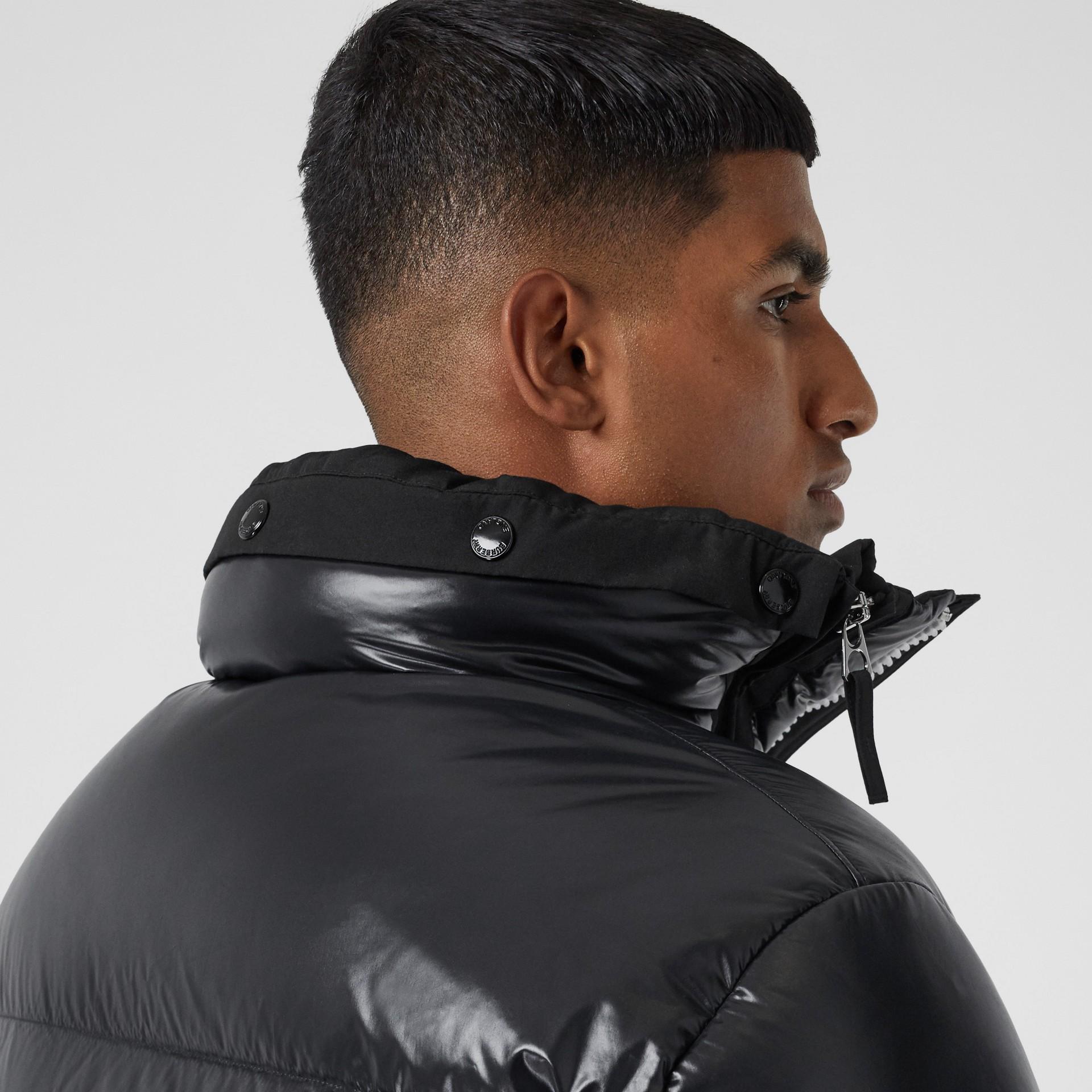 Packaway Hood Puffer Jacket in Black - Men | Burberry - gallery image 5