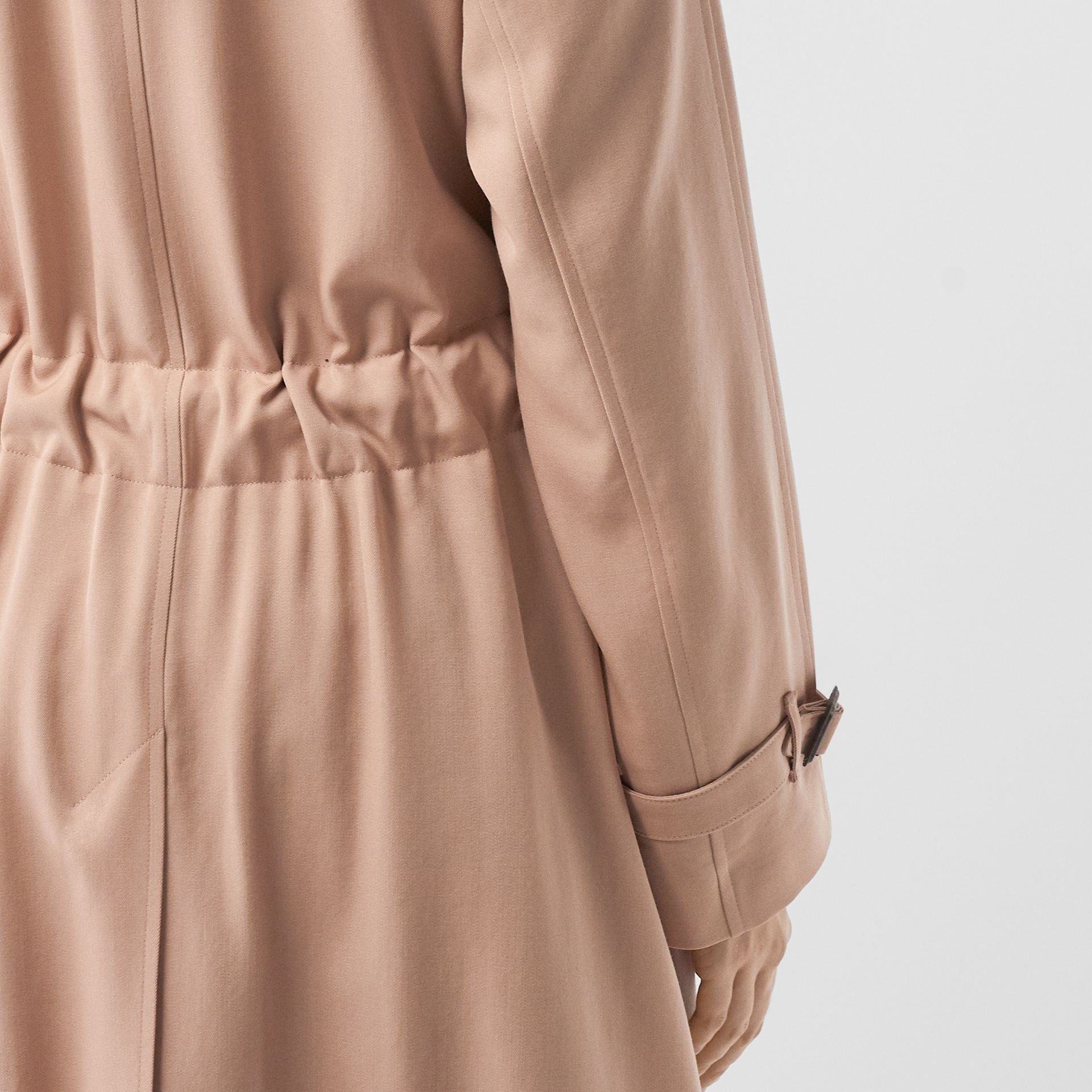 Wool Gabardine Trench Coat in Blush Pink - Women | Burberry - gallery image 6