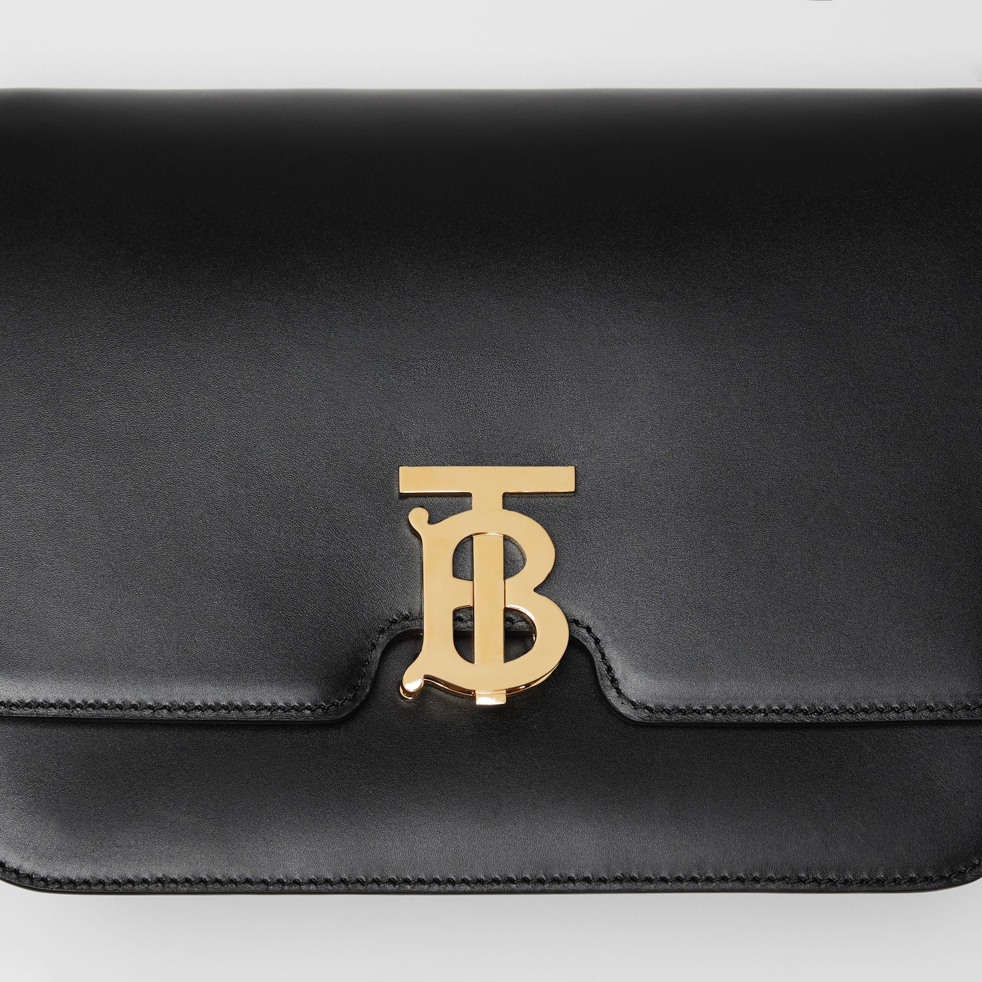 Medium Leather TB Bag in Black - Women | Burberry Australia - gallery image 1
