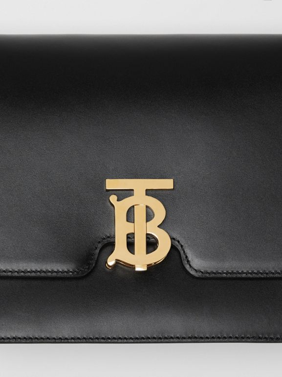 Medium Leather TB Bag in Black - Women | Burberry Australia - cell image 1
