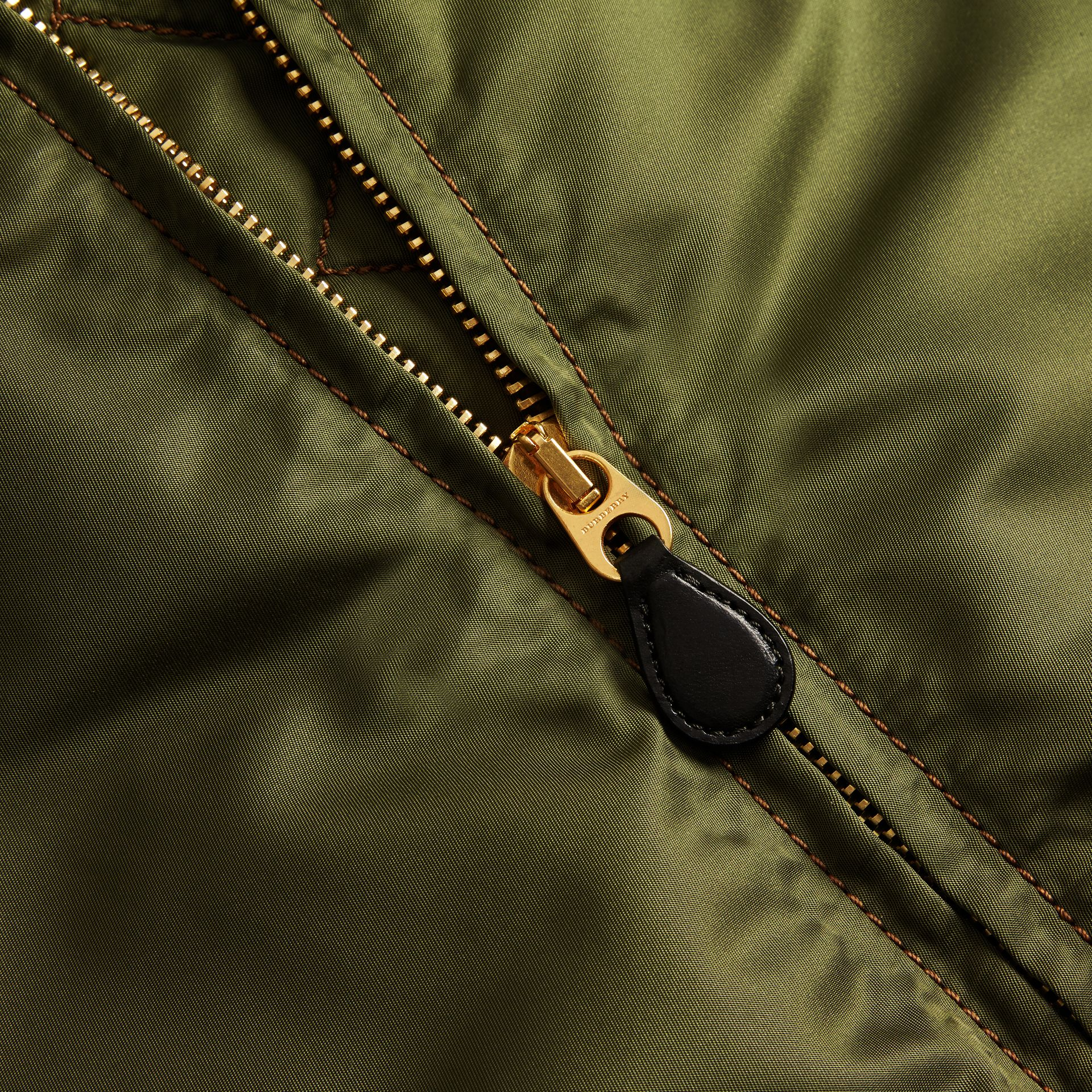 Light military green Oversize Bomber Jacket - gallery image 2