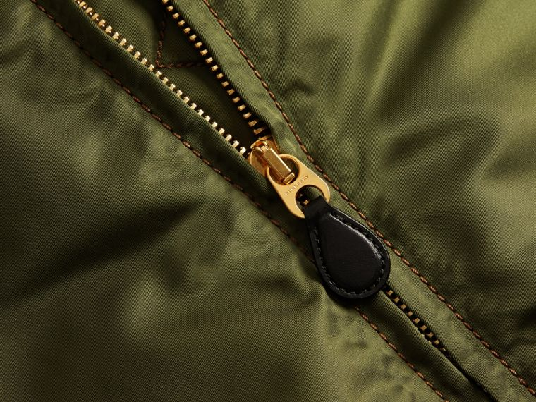 Light military green Oversize Bomber Jacket - cell image 1