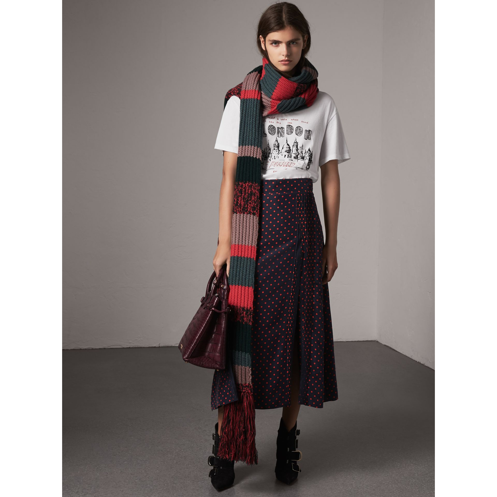 The Medium Banner aus Alligatorleder (Holunderbeerfarben) - Damen | Burberry - Galerie-Bild 2