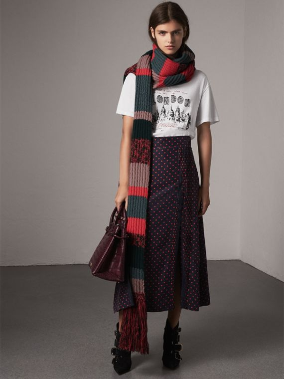 The Medium Banner in Alligator in Elderberry - Women | Burberry - cell image 2