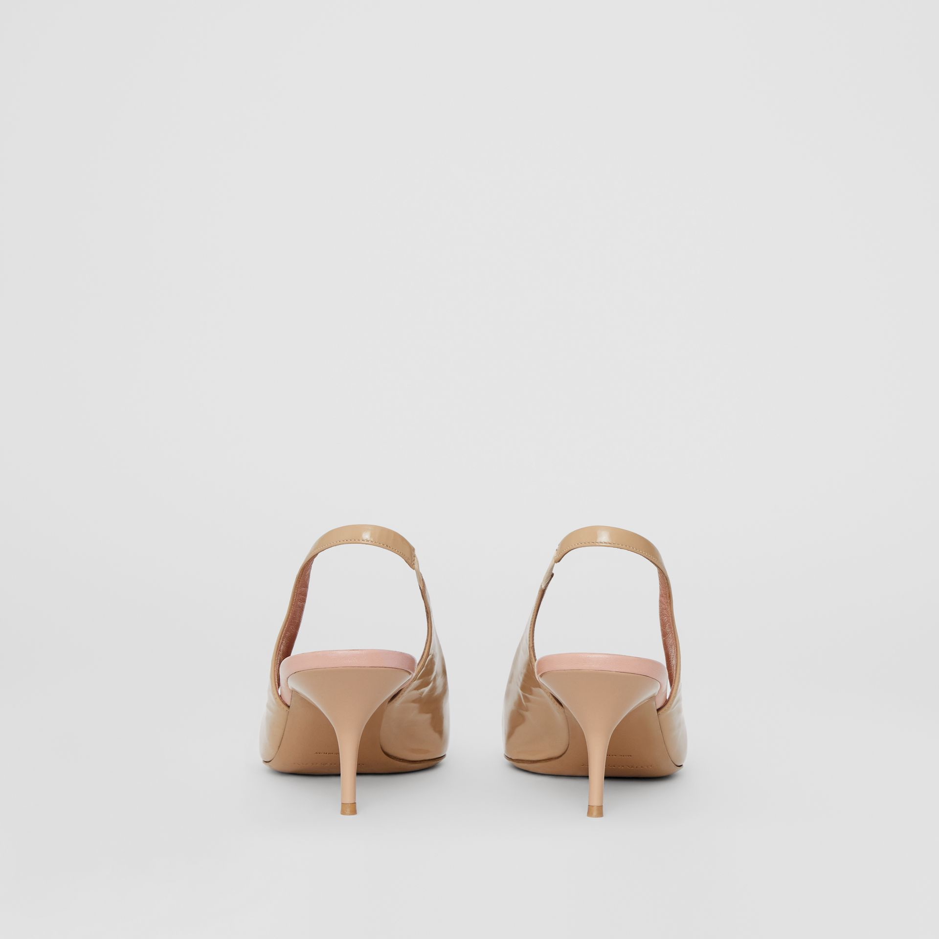 The Leather D-ring Slingback Pump in Nude Blush - Women | Burberry United Kingdom - gallery image 4