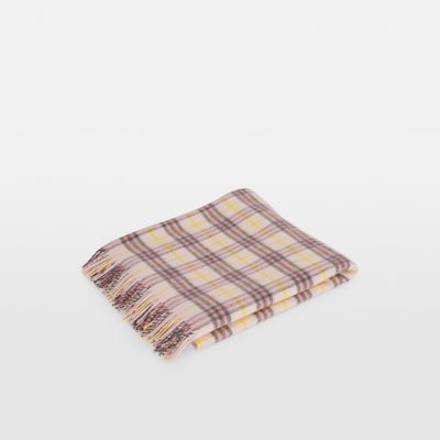 Check Cashmere Baby Blanket by Burberry