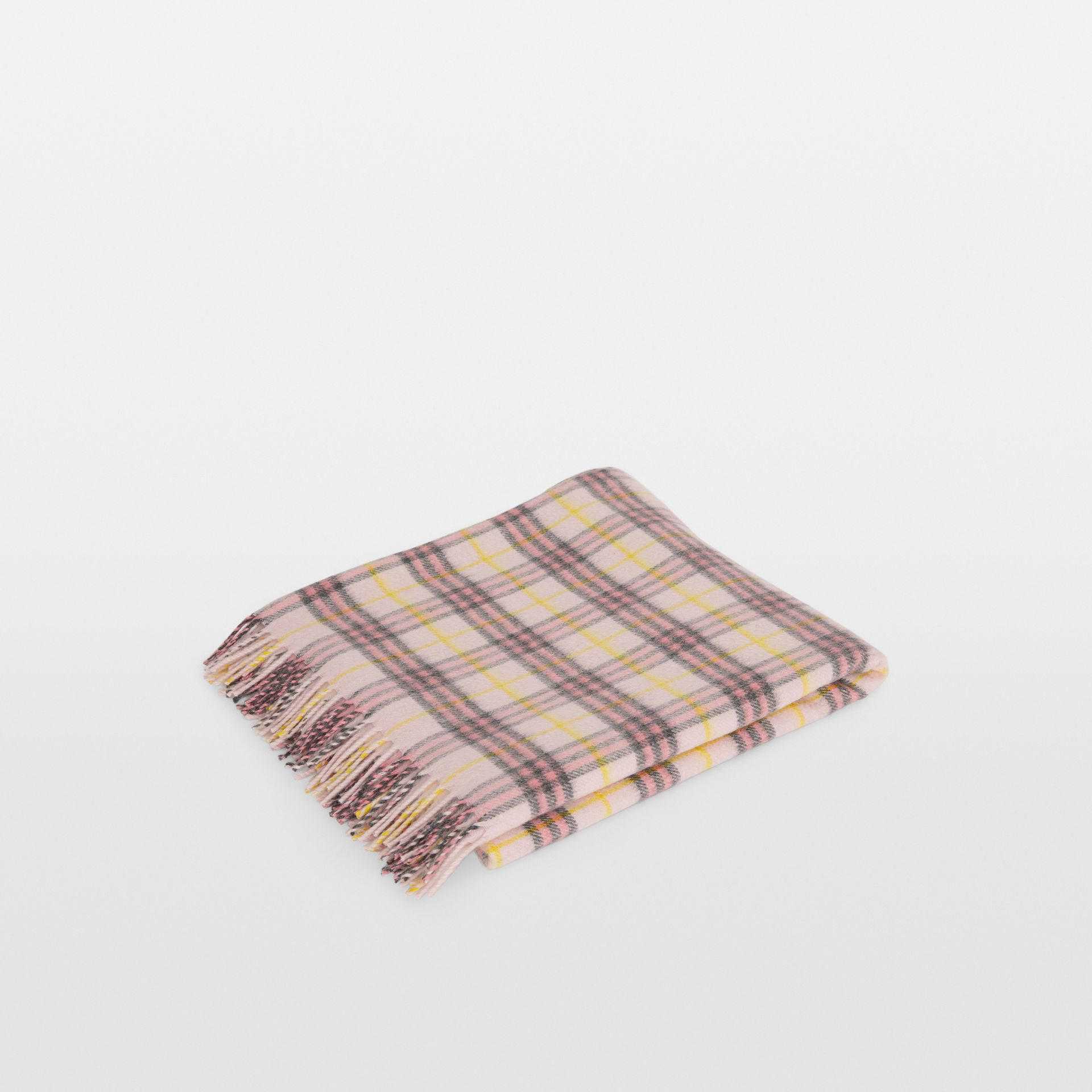 Check Cashmere Baby Blanket in Pale Blossom - Children | Burberry United States - gallery image 0