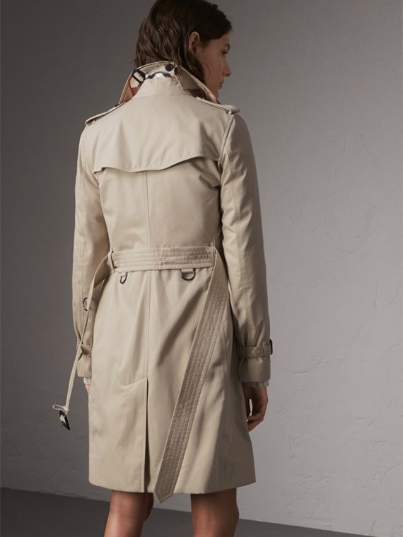 The Kensington – Long Trench Coat in Stone - Women | Burberry - cell image 2