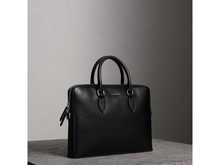 The Slim Barrow in London Leather in Black - Men | Burberry United Kingdom - cell image 4