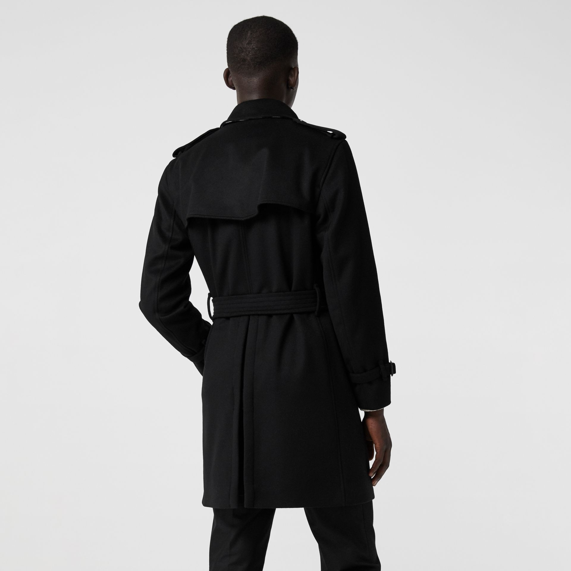 Wool Cashmere Trench Coat in Black - Men | Burberry United Kingdom - gallery image 2