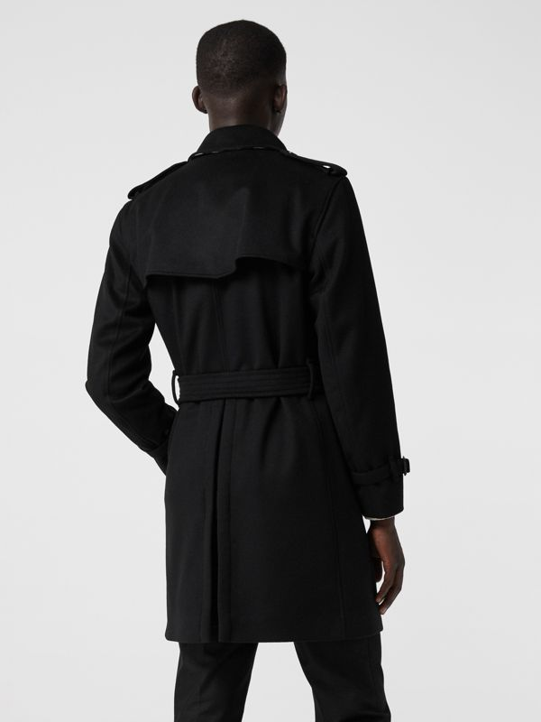 Wool Cashmere Trench Coat in Black - Men | Burberry United States - cell image 2