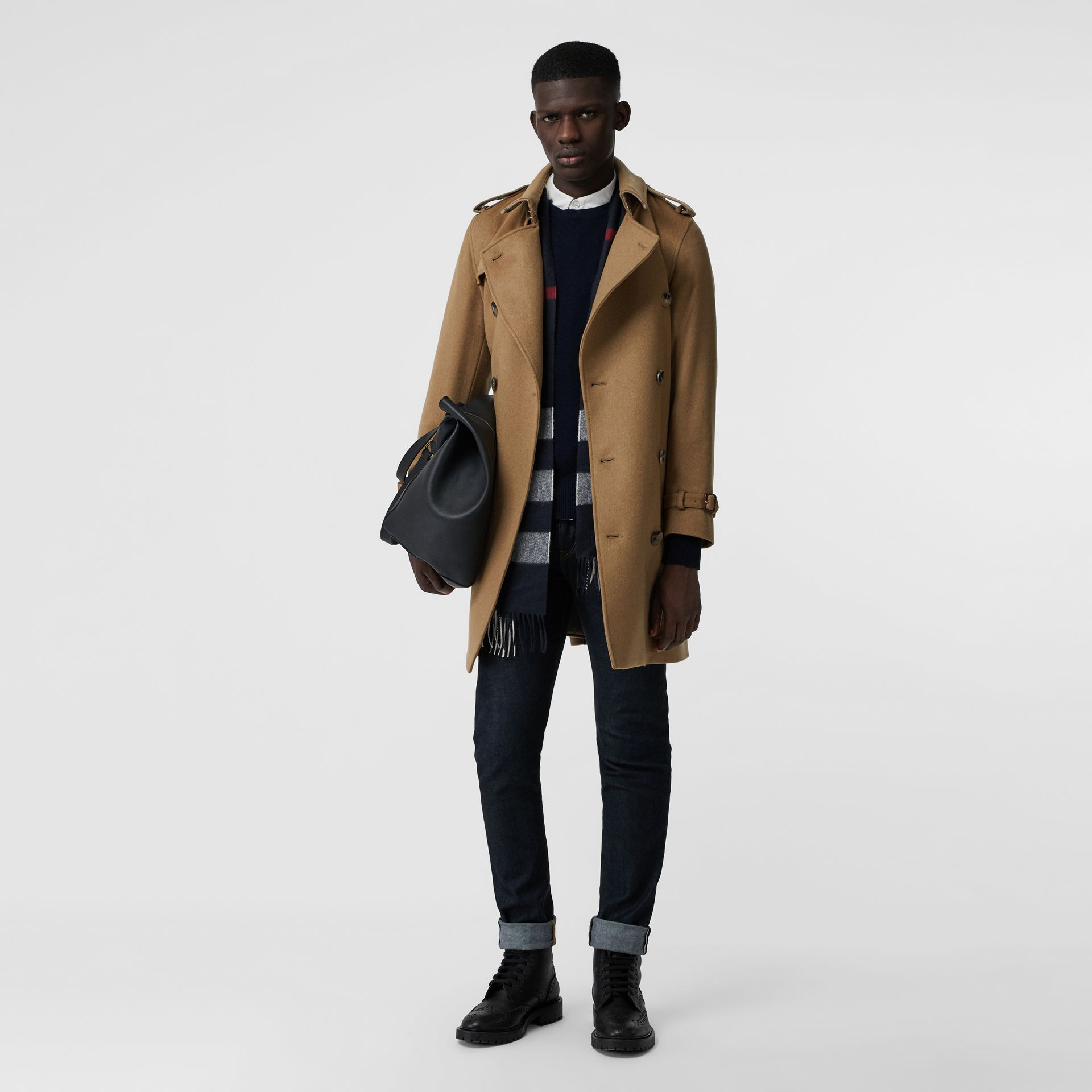 Cashmere Trench Coat in Camel - Men | Burberry Australia - gallery image 0