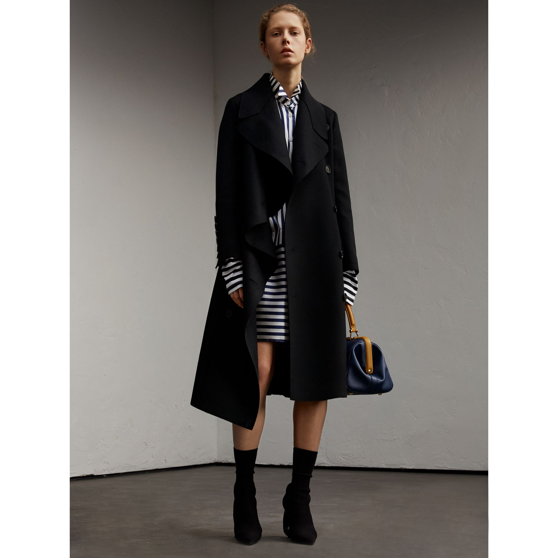 Double-faced Wool Asymmetric Coat - Women | Burberry - gallery image 6