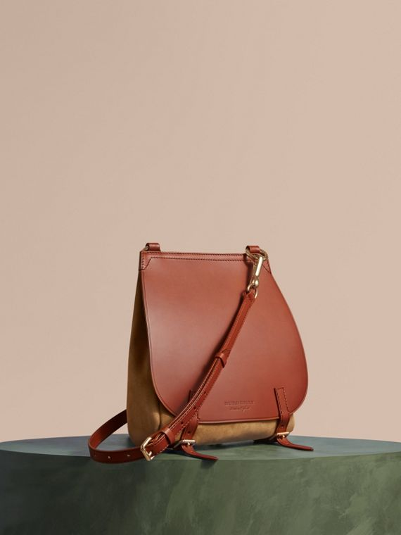 The Small Bridle Bag in Leather and Suede
