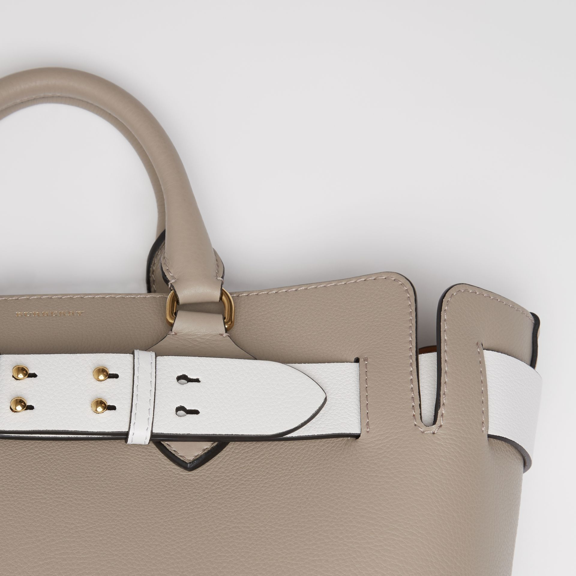 The Medium Leather Belt Bag in Mineral Grey - Women | Burberry United Kingdom - gallery image 1