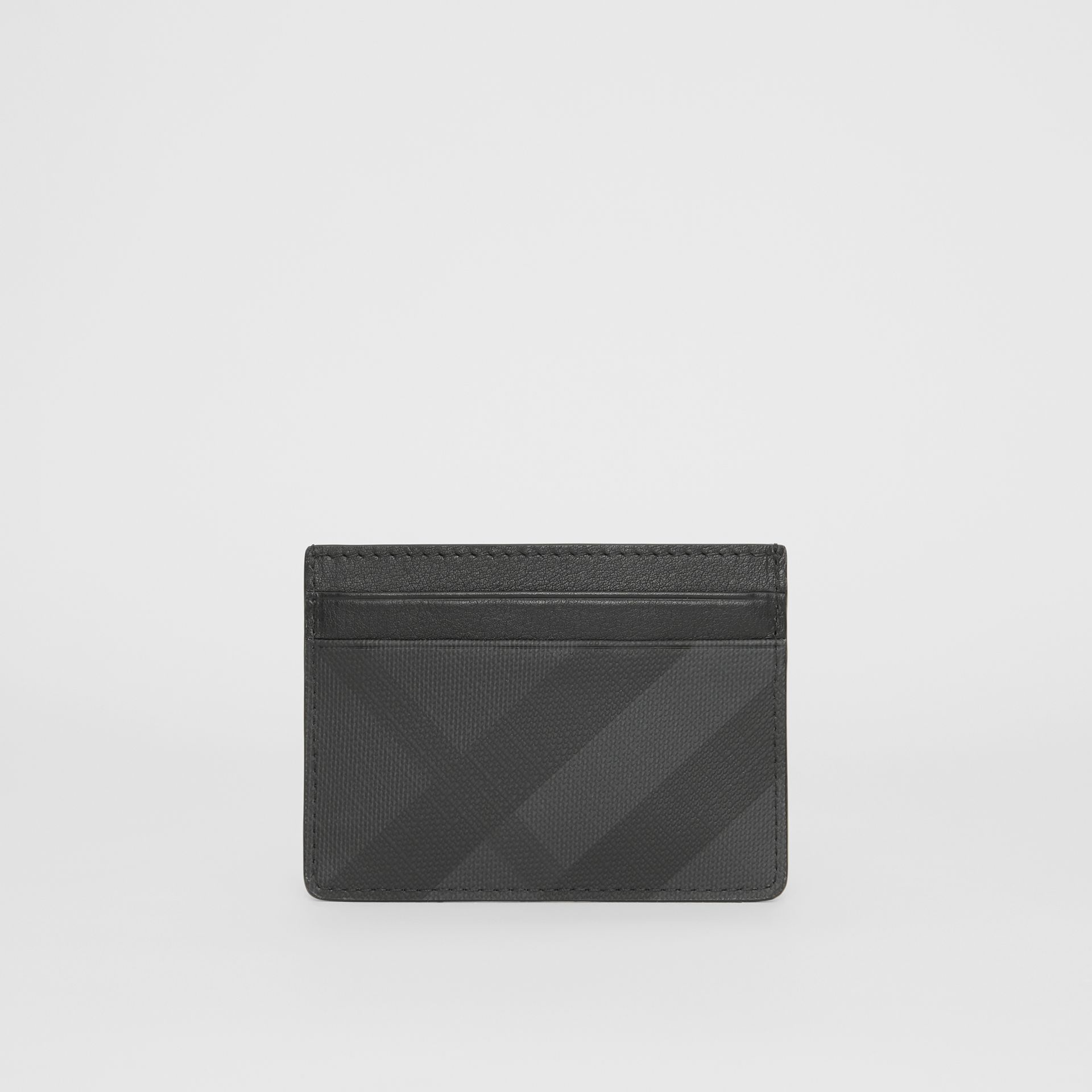London Check and Leather Card Case in Dark Charcoal - Men | Burberry - gallery image 4