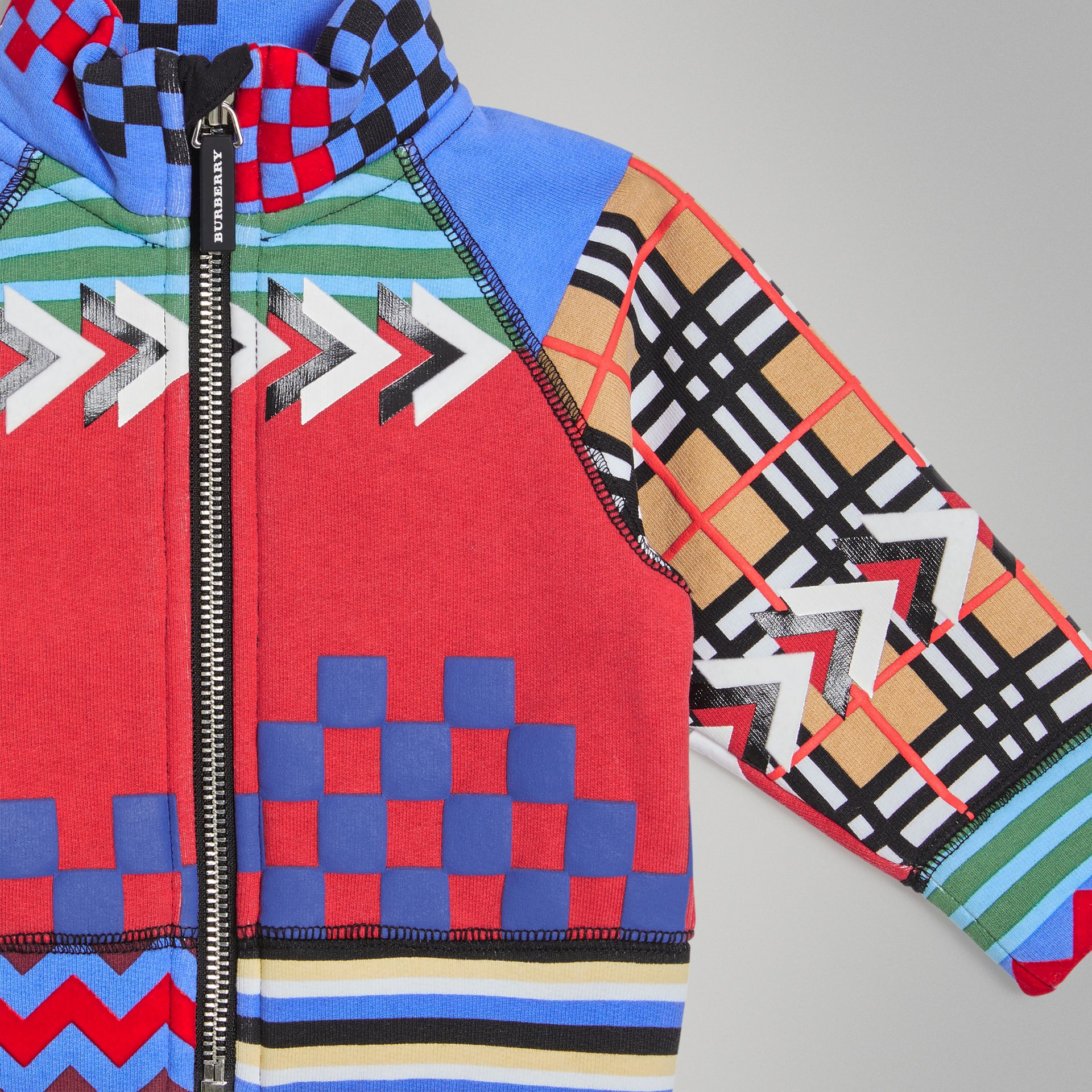 Graphic Print Jersey Track Top in Multicolour - Children | Burberry United Kingdom - gallery image 4